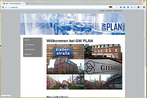 Screenshot www.gwplan.de