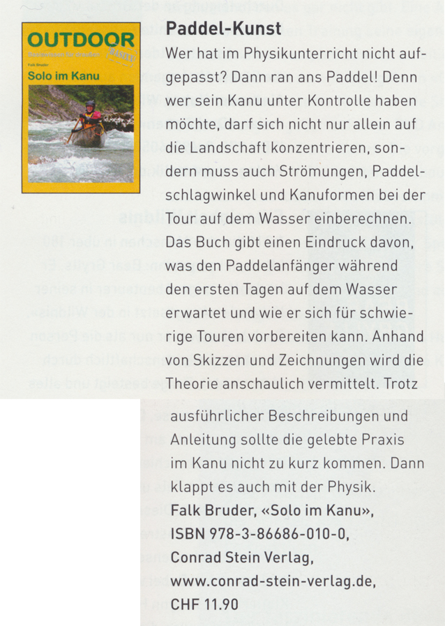 Outdoor Guide (CH) - Sommer 2014